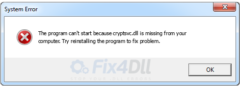 cryptsvc.dll missing