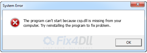 csp.dll missing