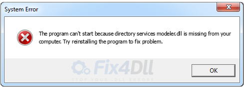 directory services modeler.dll missing