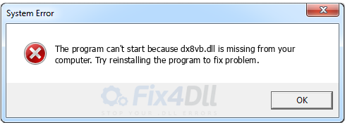dx8vb.dll missing