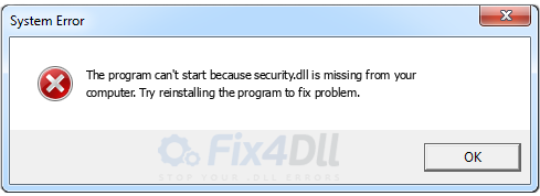 security.dll missing
