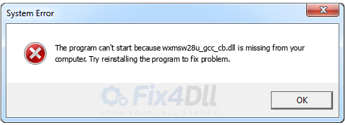 wxmsw28u_gcc_cb.dll missing